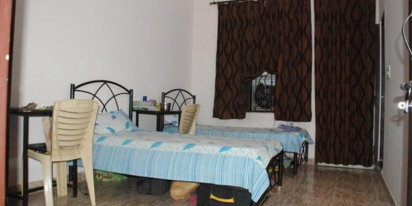 Ajmera girls hostel room- 2 seater